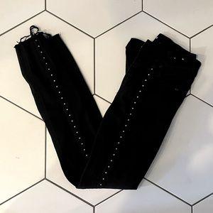 Express High Waisted Studded Jeans